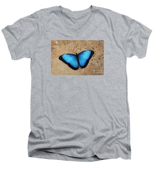 Blue Morpho #2 Men's V-Neck T-Shirt