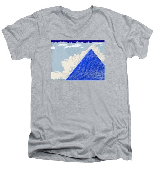 Men's V-Neck T-Shirt featuring the photograph Blue Mountain by Tina M Wenger