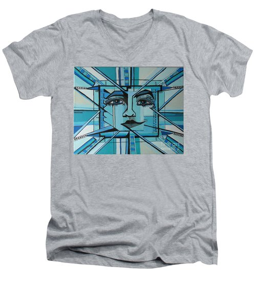 Blue Ray - Sun Men's V-Neck T-Shirt