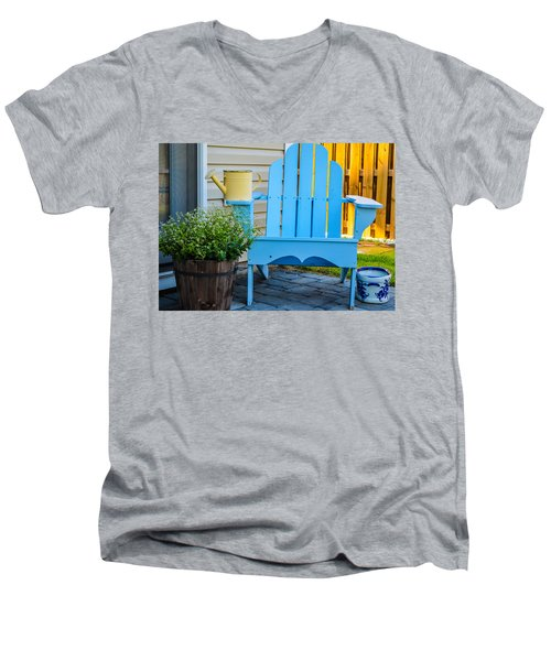 Blue Repose  Men's V-Neck T-Shirt