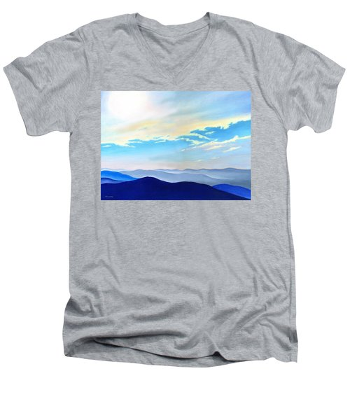 Blue Ridge Blue Above Men's V-Neck T-Shirt
