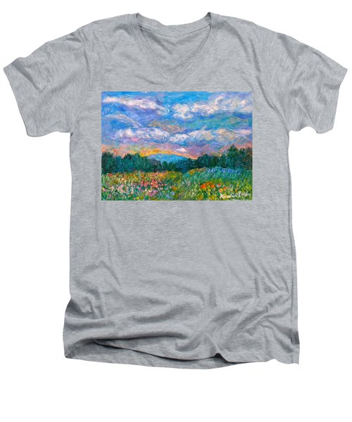 Blue Ridge Wildflowers Men's V-Neck T-Shirt