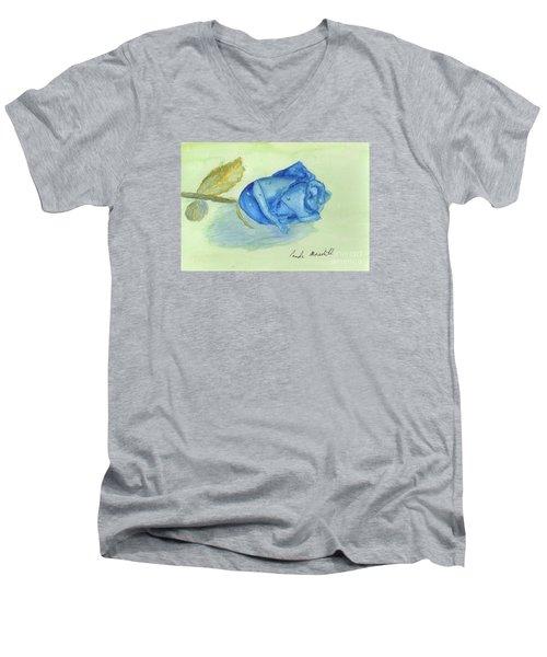 Blue Rose Men's V-Neck T-Shirt