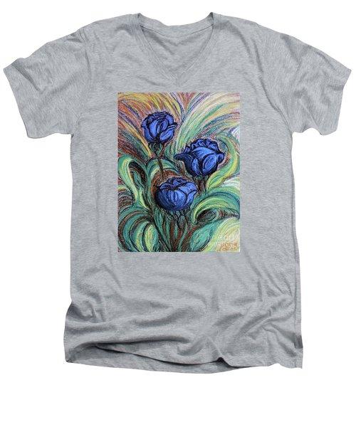 Blue Roses Men's V-Neck T-Shirt