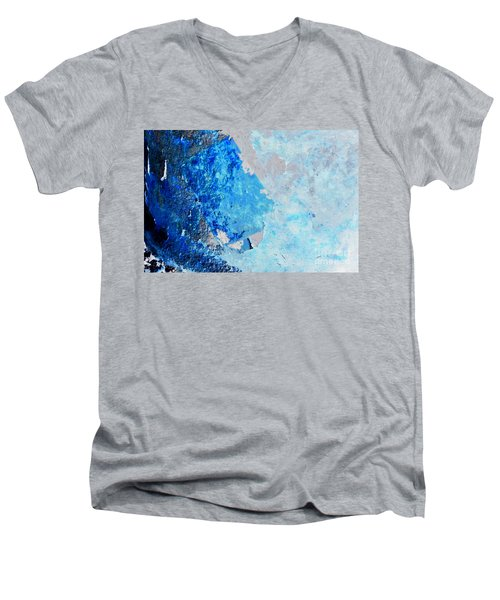 Blue Rust Men's V-Neck T-Shirt by Randi Grace Nilsberg