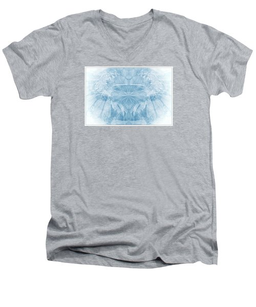 Men's V-Neck T-Shirt featuring the photograph Blue Serinity by Geraldine DeBoer
