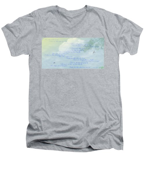 Blue Skies Men's V-Neck T-Shirt