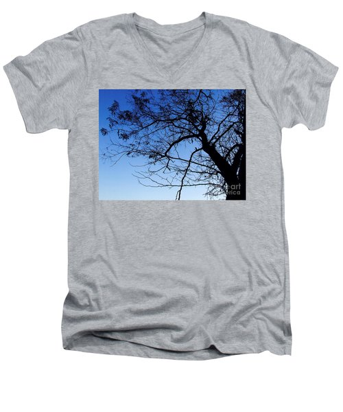 Men's V-Neck T-Shirt featuring the photograph Blue Sky by Andrea Anderegg