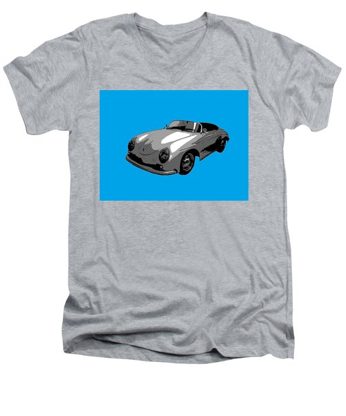 Blue Speedster Men's V-Neck T-Shirt by J Anthony