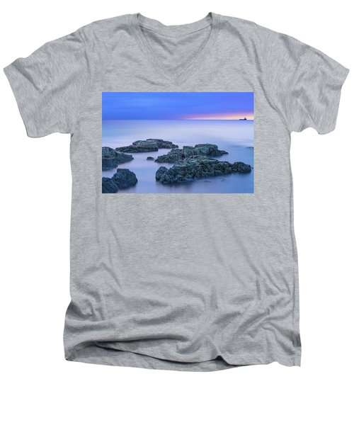Blue Sunrise Men's V-Neck T-Shirt