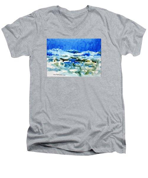 Blue Surf Men's V-Neck T-Shirt