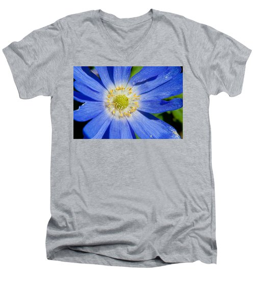 Blue Swan River Daisy Men's V-Neck T-Shirt