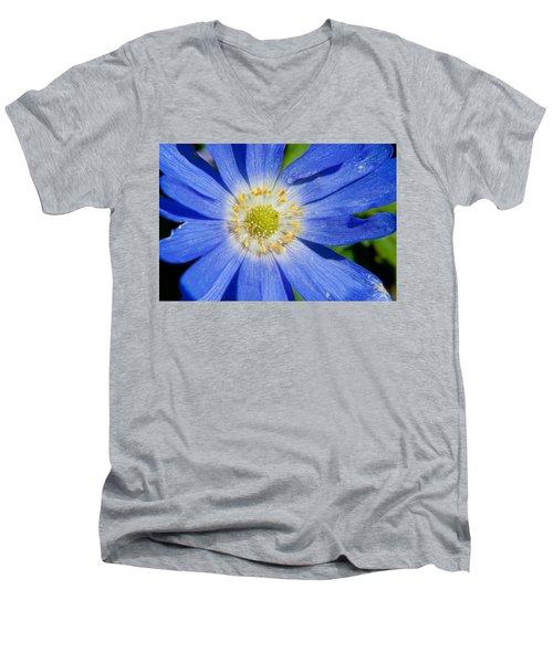 Blue Swan River Daisy Men's V-Neck T-Shirt by Tikvah's Hope