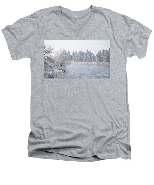 Blue Tint Men's V-Neck T-Shirt by Greg Patzer