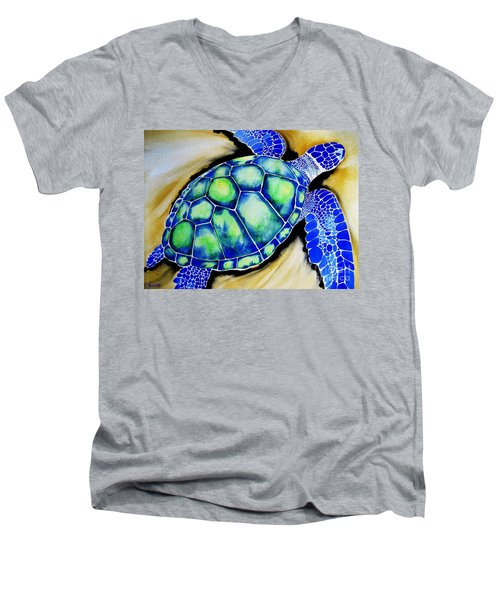 Blue Turtle Men's V-Neck T-Shirt