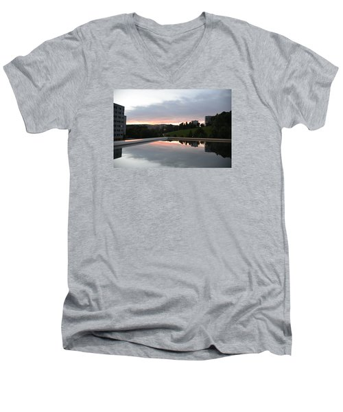 Men's V-Neck T-Shirt featuring the photograph Blue Visions 2 by Teo SITCHET-KANDA