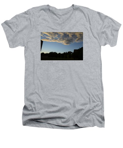 Men's V-Neck T-Shirt featuring the photograph Blue Visions 4 by Teo SITCHET-KANDA