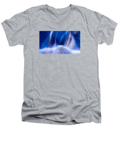 Blue Water Men's V-Neck T-Shirt by Torbjorn Swenelius