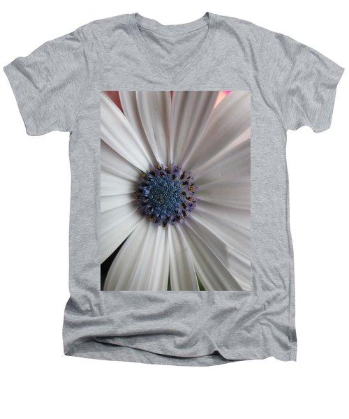 Blue-white Loveliness Men's V-Neck T-Shirt