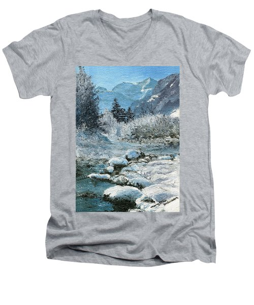 Blue Winter Men's V-Neck T-Shirt