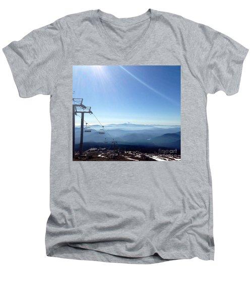 Blue Yonder Men's V-Neck T-Shirt