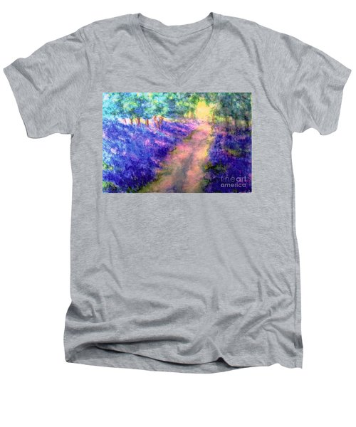 Bluebell Woods Men's V-Neck T-Shirt by Hazel Holland