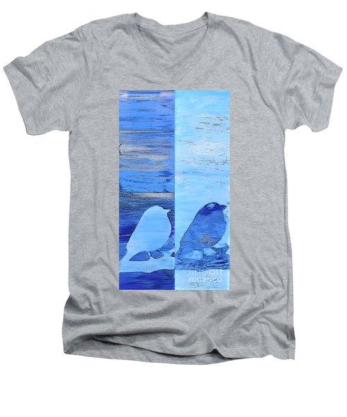 Bluebirds Men's V-Neck T-Shirt