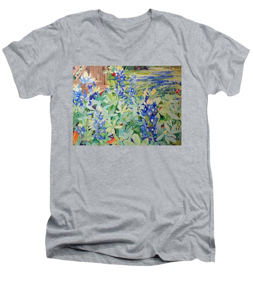 Bluebonnet Beauties Men's V-Neck T-Shirt