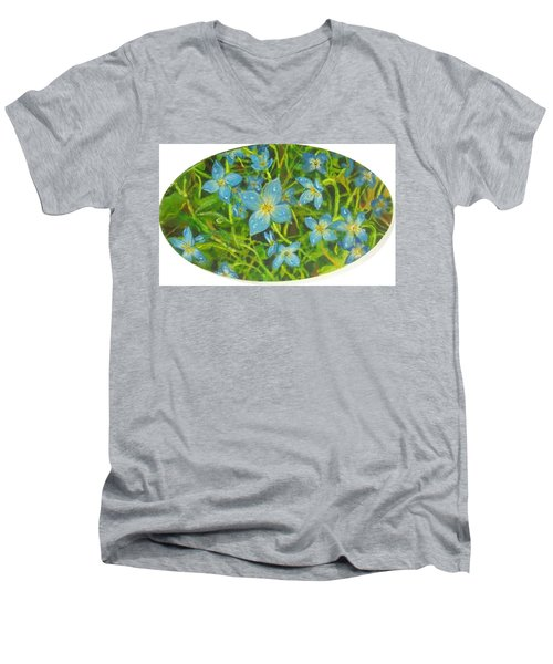Bluets Of The Shenandoah  Men's V-Neck T-Shirt