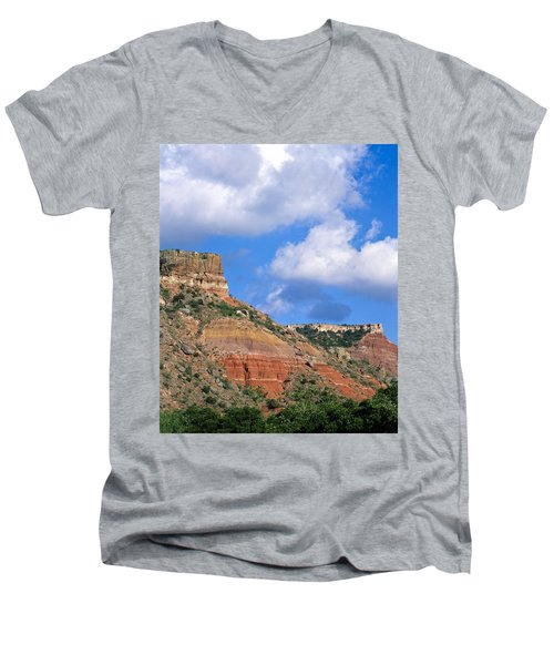 Bluffs In The Glass Mountains Men's V-Neck T-Shirt