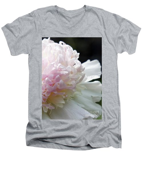 Blushing Peony  Men's V-Neck T-Shirt