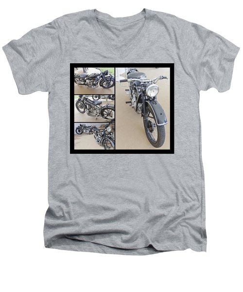 Bmw Art Deco Bikes Men's V-Neck T-Shirt by Maj Seda