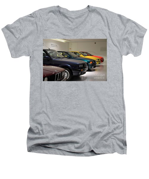 Bmw Cars Through The Years Munich Germany Men's V-Neck T-Shirt