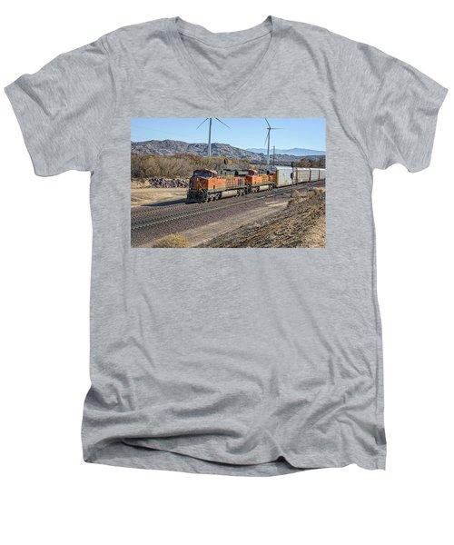 Bnsf 7454 Men's V-Neck T-Shirt by Jim Thompson