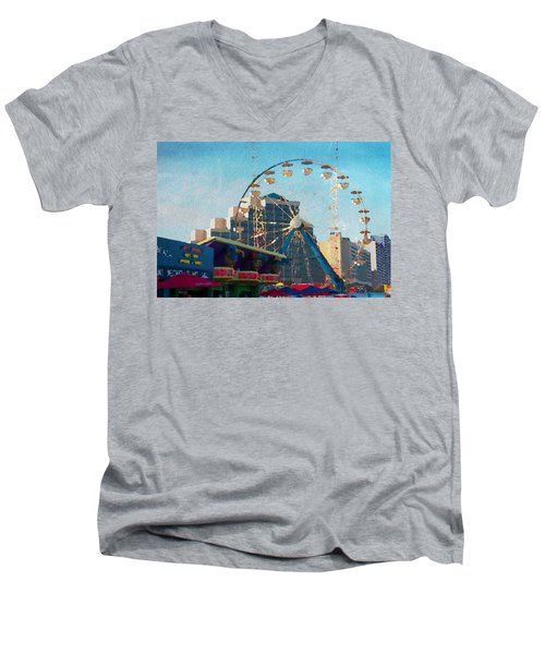 Boardwalk Ferris  Men's V-Neck T-Shirt