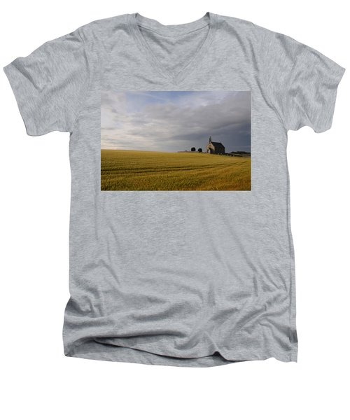 Boarhills Church Men's V-Neck T-Shirt by Jeremy Voisey