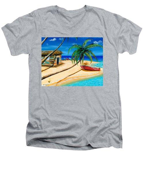 Boat Rent Men's V-Neck T-Shirt by Steve Ozment