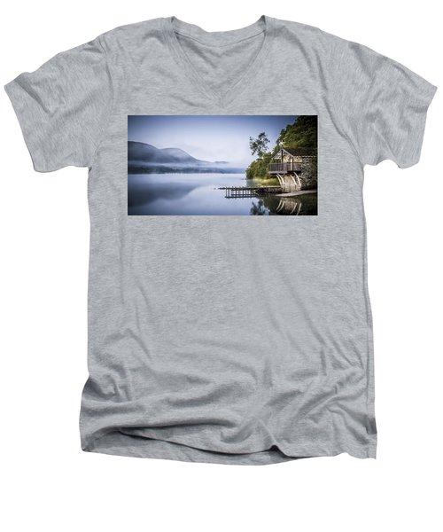Boathouse At Pooley Bridge Men's V-Neck T-Shirt