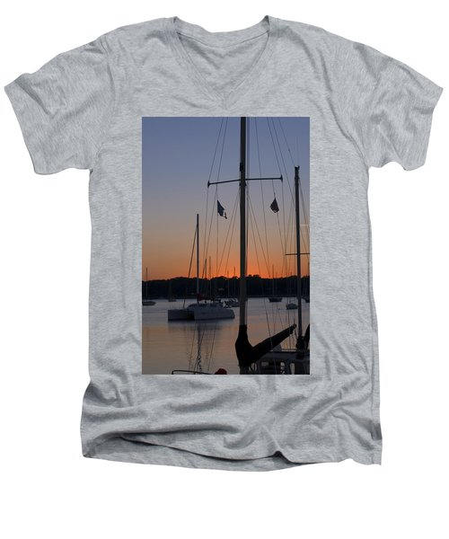 Boats At Beaufort Men's V-Neck T-Shirt