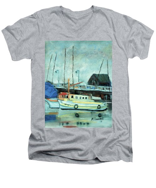 Boats At Provincetown Ma Men's V-Neck T-Shirt