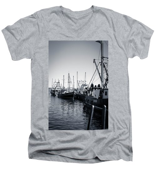 Boats At The Pier  Men's V-Neck T-Shirt