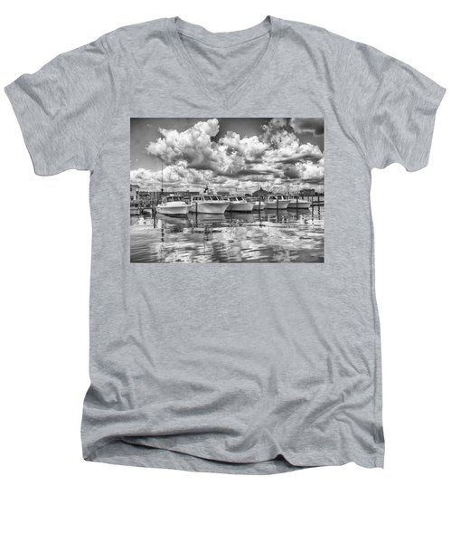 Boats Men's V-Neck T-Shirt by Howard Salmon