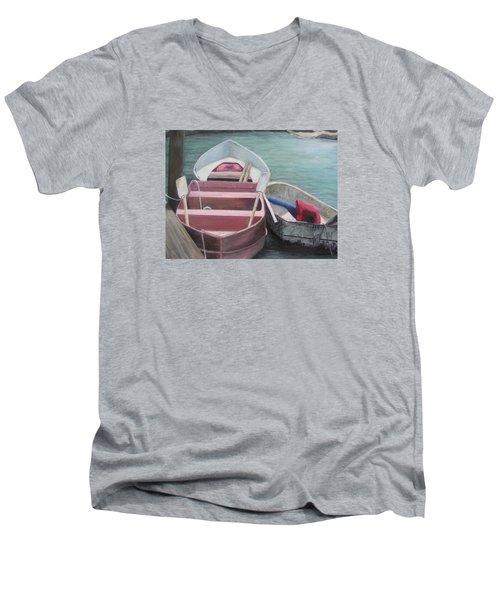 Boats Of The Lighthouse Men's V-Neck T-Shirt