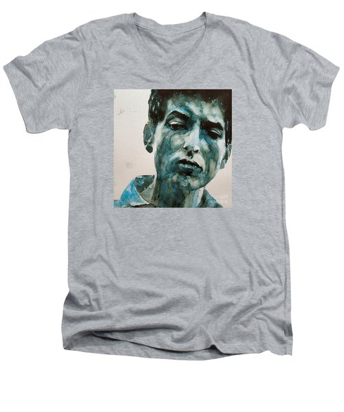 Bob Dylan Men's V-Neck T-Shirt