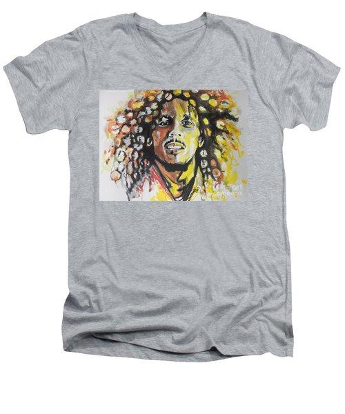 Bob Marley 02 Men's V-Neck T-Shirt