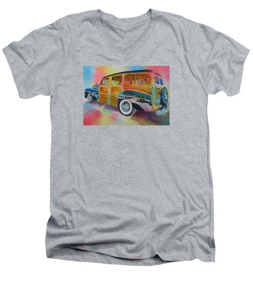 Boca Classic 42 Woody Men's V-Neck T-Shirt by Tara Moorman