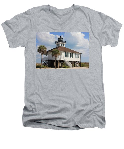 Men's V-Neck T-Shirt featuring the photograph Boca Grande  by Rosalie Scanlon