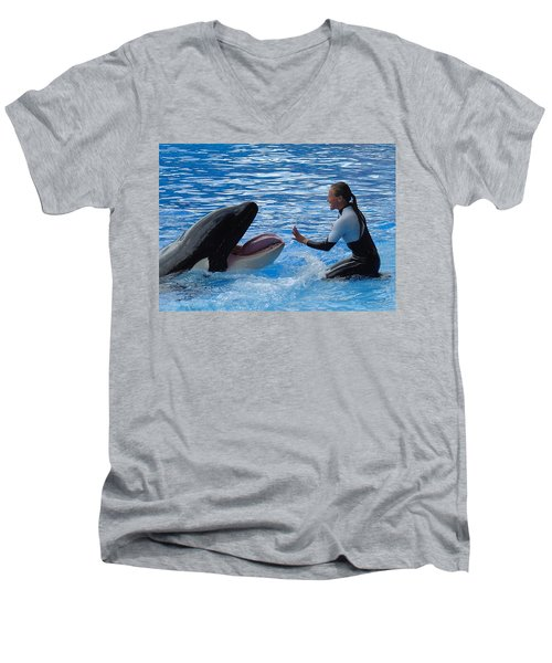 Men's V-Neck T-Shirt featuring the photograph Bonding by David Nicholls