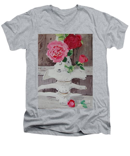 Bones And Roses Men's V-Neck T-Shirt