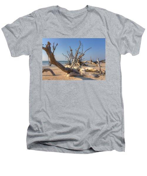 Boneyard Beach Men's V-Neck T-Shirt